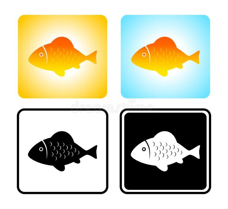 De pictogrammen van vissen royalty-vrije illustratie