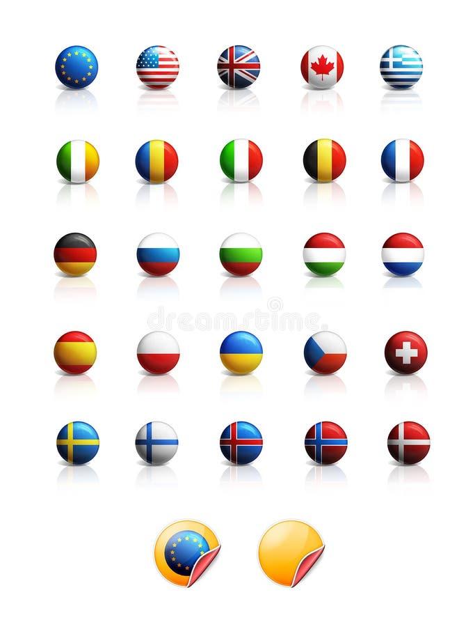 De pictogrammen van vlaggen vector illustratie
