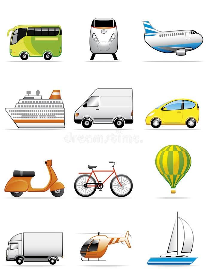 De pictogrammen van voertuigen stock illustratie