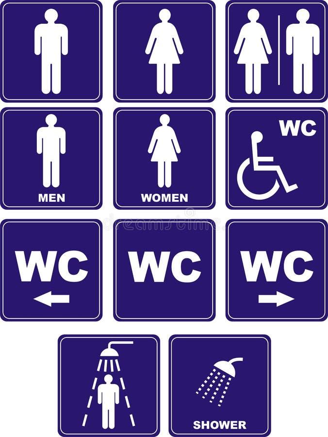De pictogrammen van WC royalty-vrije illustratie