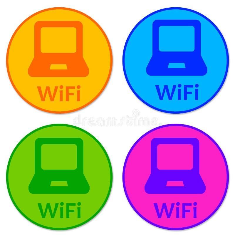 De pictogrammen van Wifi vector illustratie