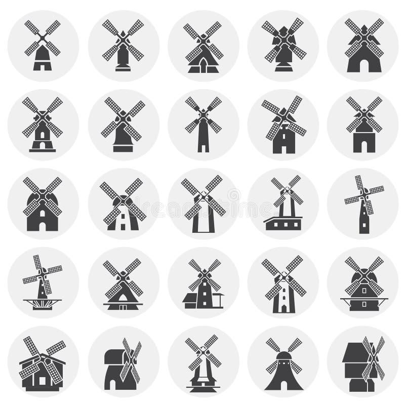 De pictogrammen van de windmolen op achtergrond voor grafisch en Webontwerp dat worden geplaatst Eenvoudige illustratie Internet- royalty-vrije illustratie