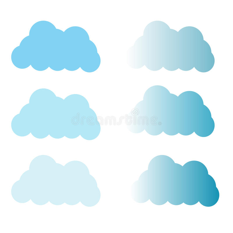 De pictogrammen van wolken royalty-vrije stock fotografie