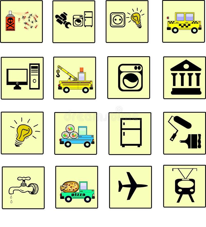De pictogrammendiensten stock illustratie