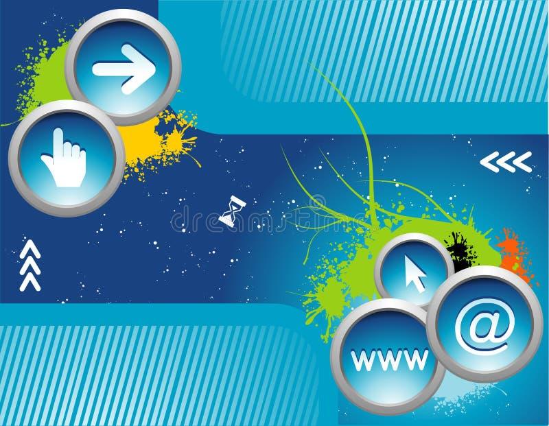 De pictogrammenvector van Internet stock illustratie