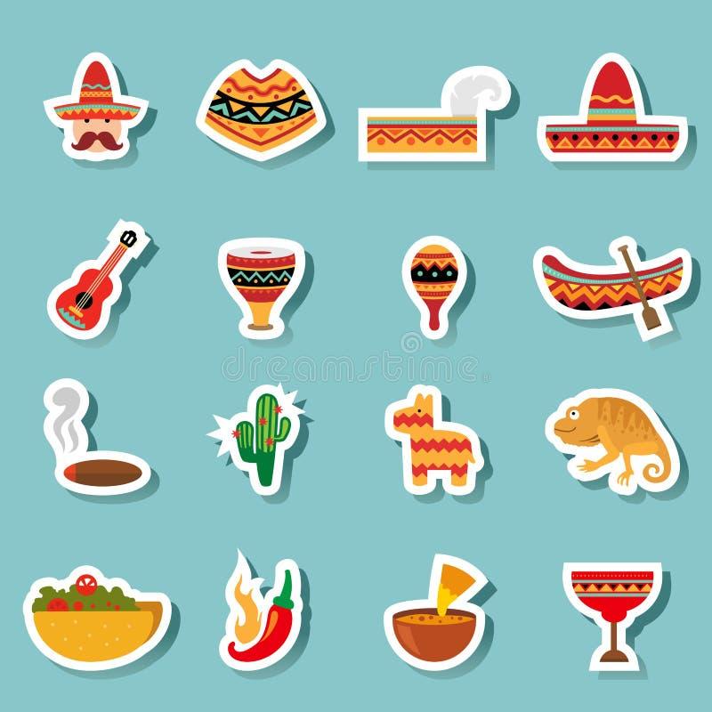 De pictogrammenvector van Mexico royalty-vrije illustratie