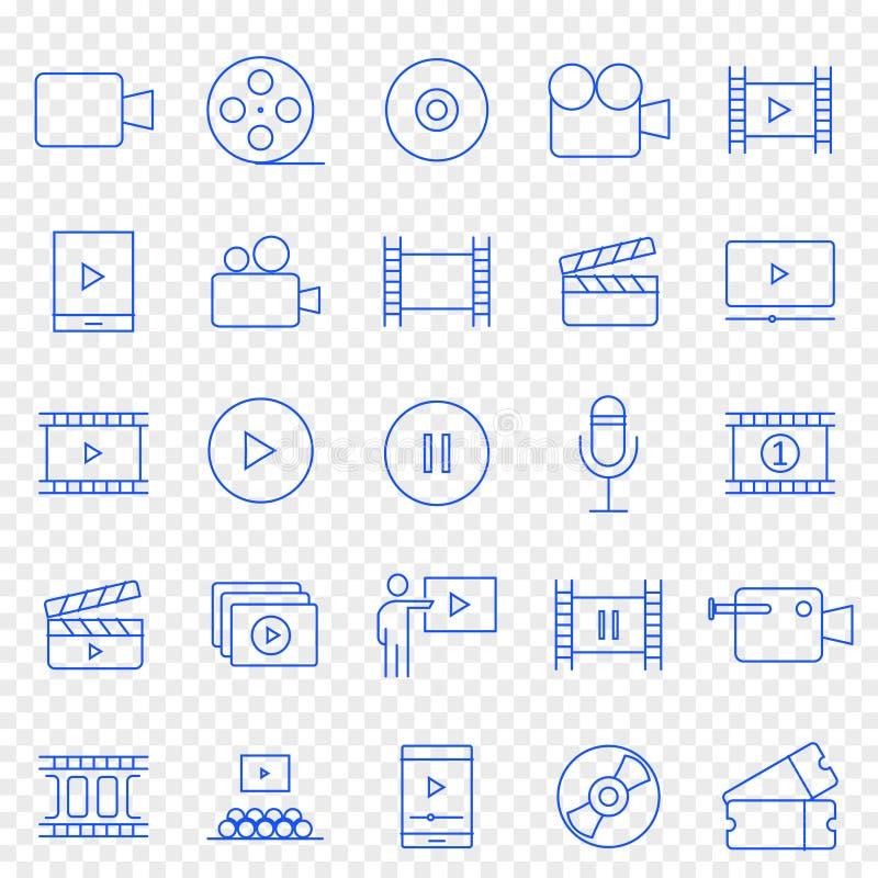 De pictogramreeks van verschillende media 25 Vectorpictogrammenpak vector illustratie