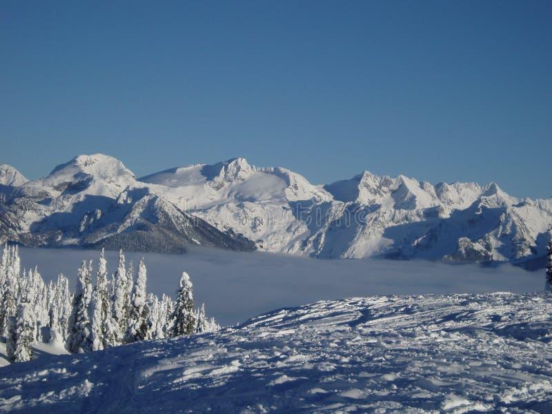 De piek van de sneeuw royalty-vrije stock afbeeldingen