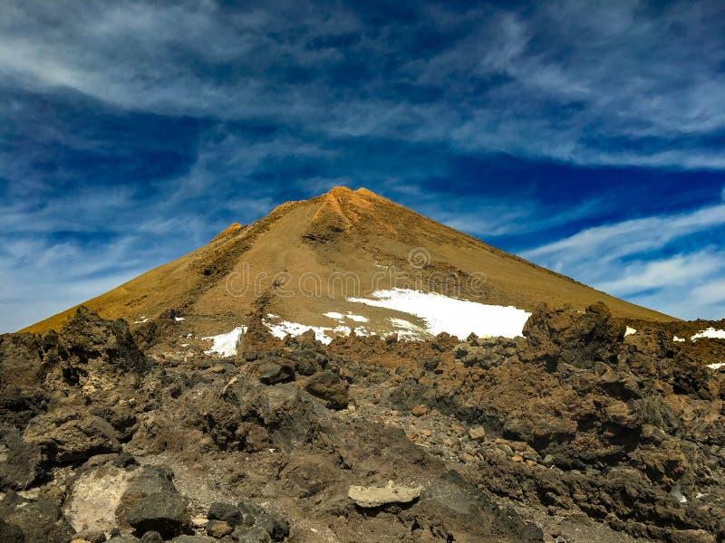 De piek van de inactieve vulkaan zet Teide, Tenerife op royalty-vrije stock foto's