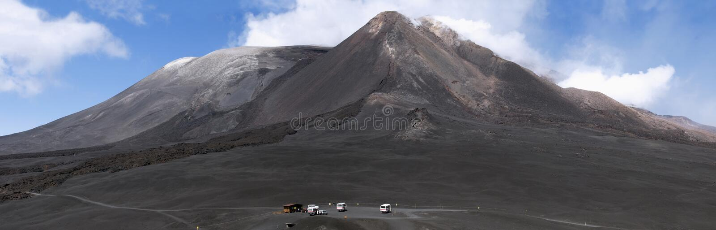 De piek van Onderstel Etna royalty-vrije stock foto
