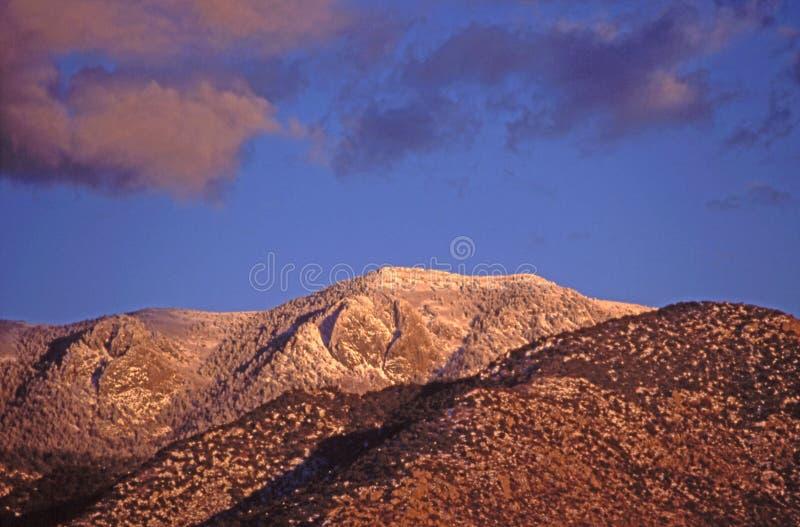 De Piek van Sandia van het zuiden bij Zonsondergang stock fotografie