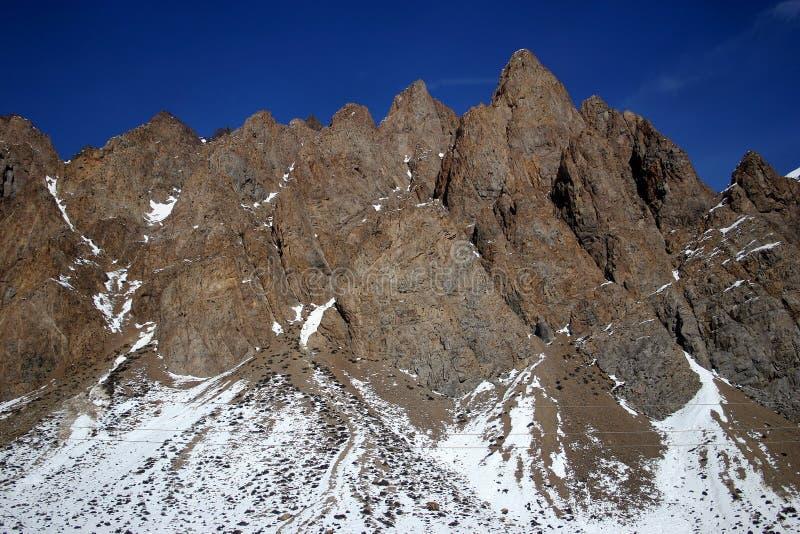 De Pieken van de Andes stock fotografie