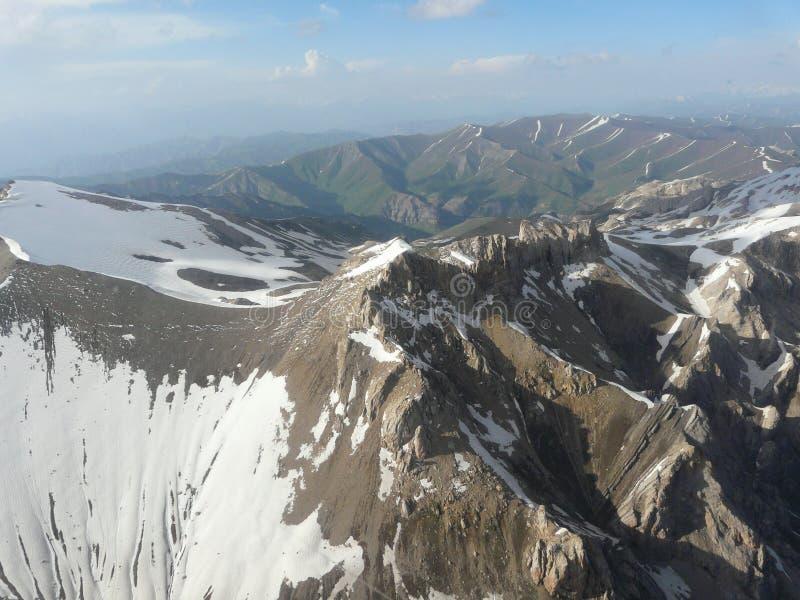 De pieken van de bergsneeuw van Pamir royalty-vrije stock afbeeldingen