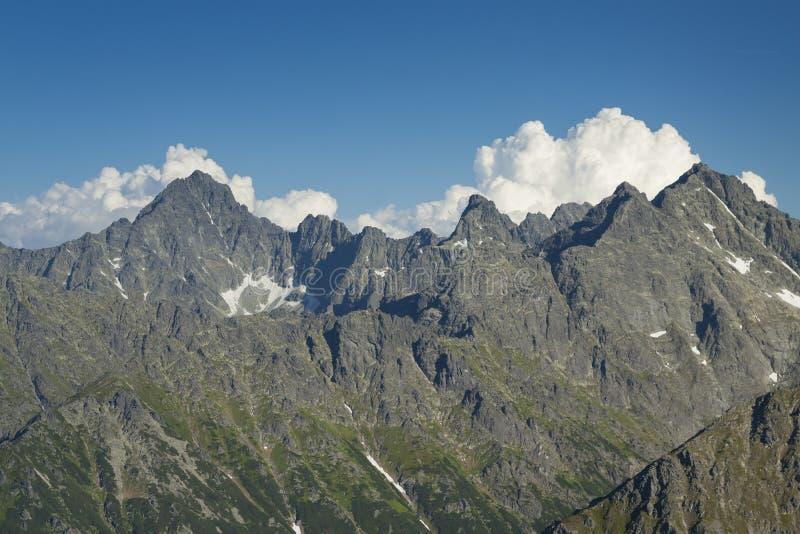 De Pieken van Polen/van Slowakije van Tatra-Bergen royalty-vrije stock foto