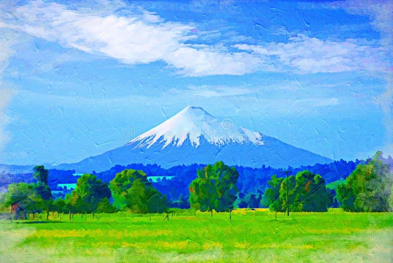 De pieksneeuw van de berg stock illustratie