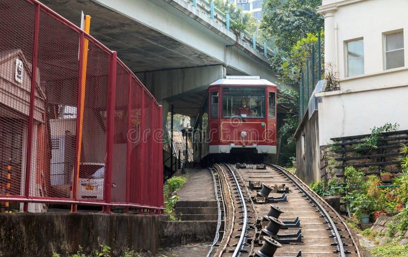 De PiekTram van Hongkong stock fotografie