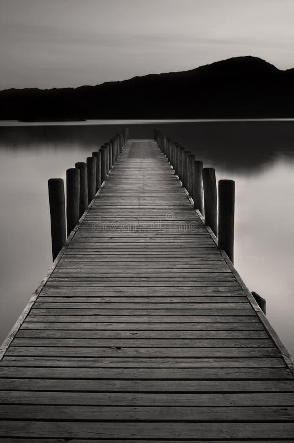 De Pier van het meer bij water Coniston royalty-vrije stock afbeeldingen