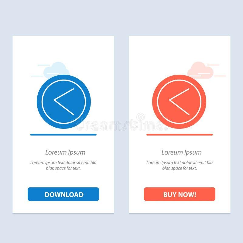 De pijl, Interface, ging, Gebruikers Blauwe en Rode Download weg en koopt nu de Kaartmalplaatje van Webwidget vector illustratie