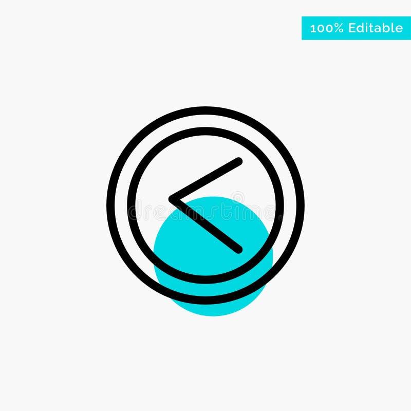 De pijl, Interface, ging, van het de cirkelpunt van het Gebruikers het turkooise hoogtepunt Vectorpictogram weg vector illustratie