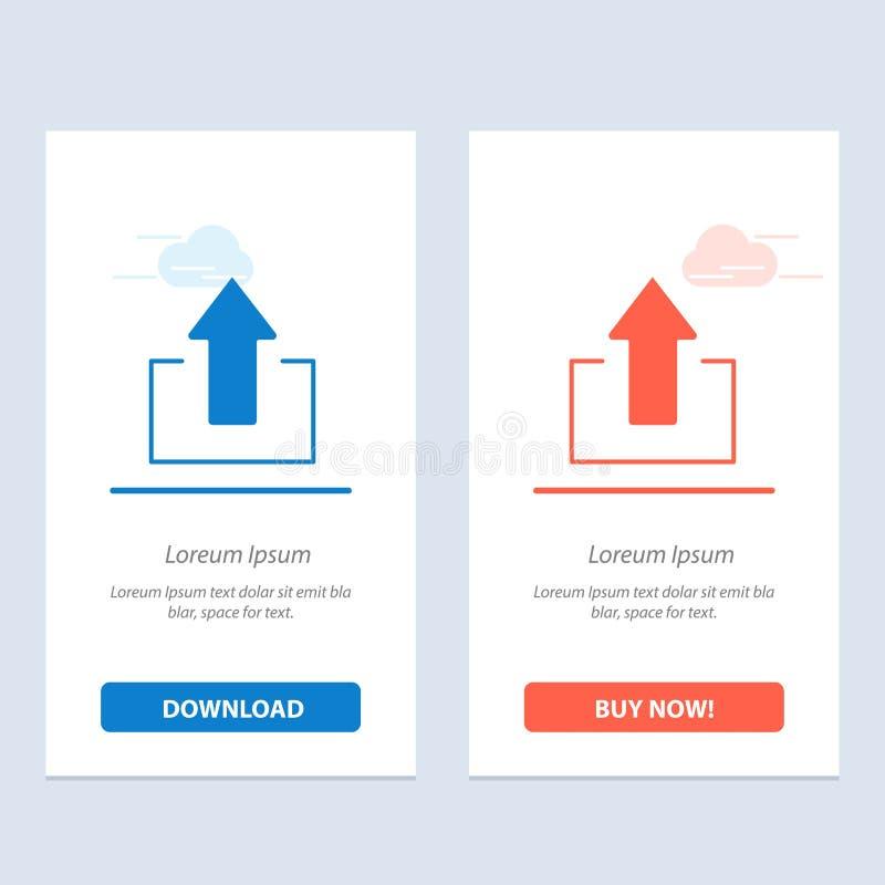 De pijl, Pijlen, omhoog, uploadt Blauwe en Rode Download en koopt nu de Kaartmalplaatje van Webwidget royalty-vrije illustratie