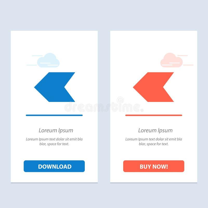 De pijl, Wijzer, verliet Blauwe en Rode Download en koopt nu de Kaartmalplaatje van Webwidget royalty-vrije illustratie