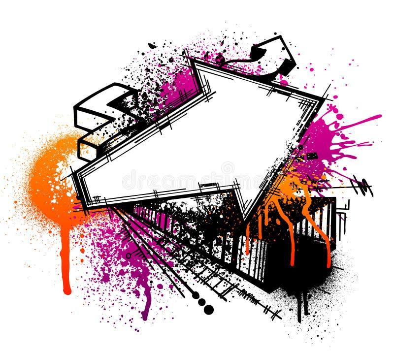 De pijlachtergrond van Graffiti royalty-vrije illustratie