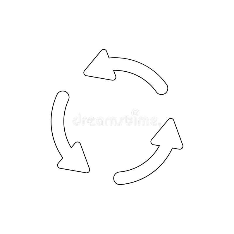 De pijlen roteren het pictogram van het synchronisatieoverzicht De tekens en de symbolen kunnen voor Web, embleem, mobiele toepas stock illustratie
