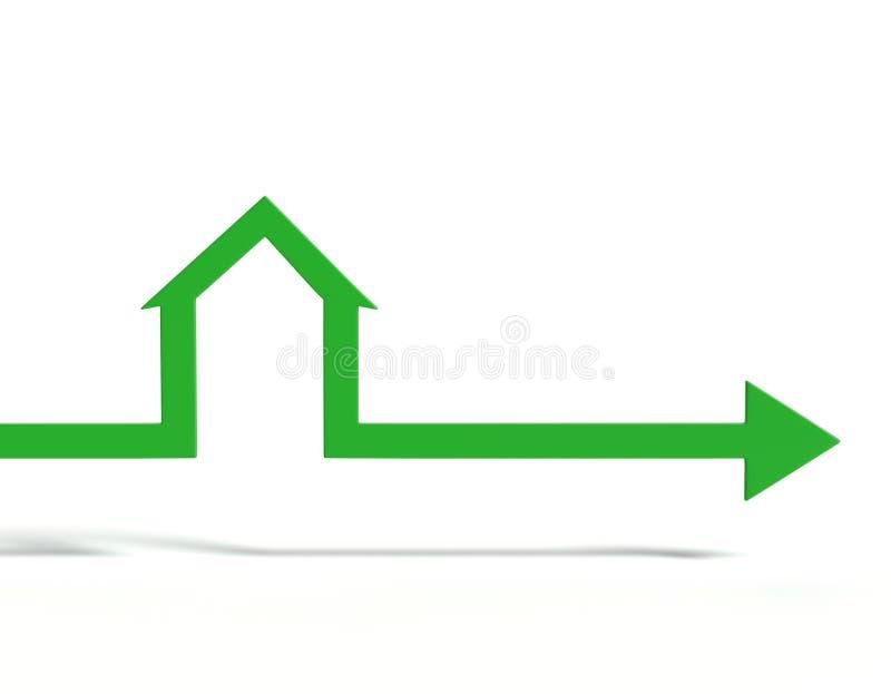 De pijlen van de huisvorm Bedrijfs concept vector illustratie