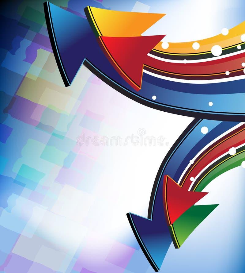 De pijlen van de kleur vector illustratie