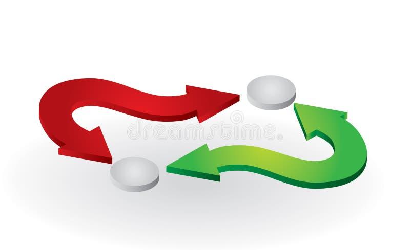 De pijlen van de kleur stock illustratie