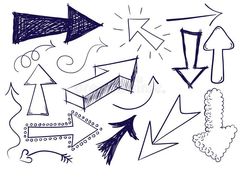 De Pijlen van de krabbel vector illustratie