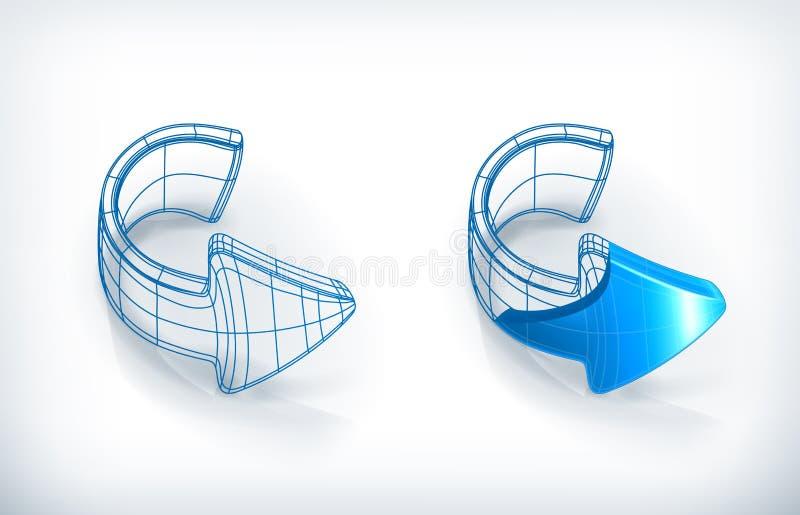 De pijlen van de tekening vector illustratie