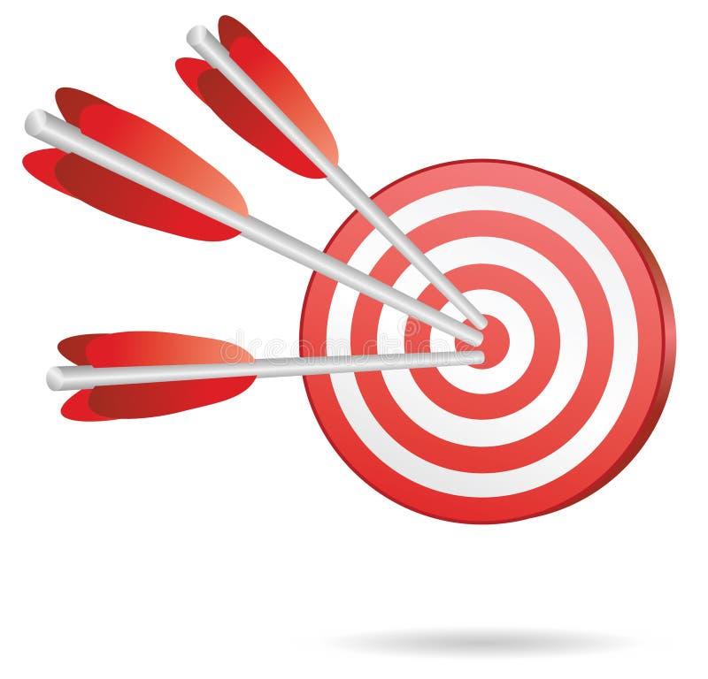 De pijlen van het doel vector illustratie