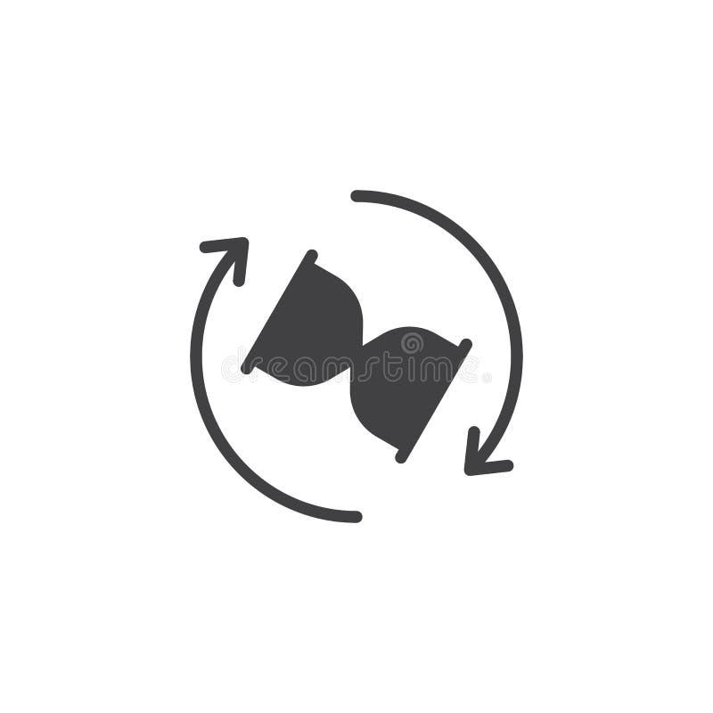 De pijlen vectorpictogram van de zandloperomwenteling stock illustratie