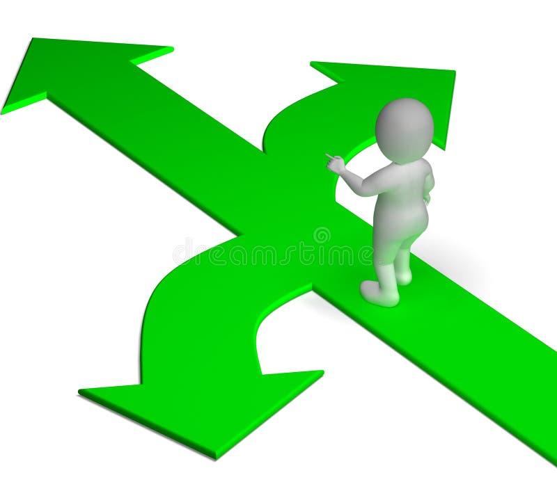 De pijlenkeus toont Opties Alternatieven of het Beslissen vector illustratie