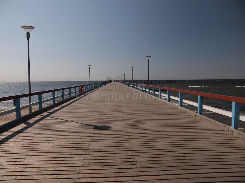 De pijler in Palanga (Litouwen) royalty-vrije stock fotografie