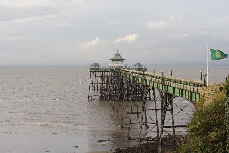 De Pijler van Clevedon stock afbeeldingen