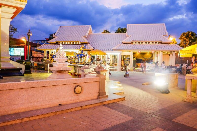 De pijler van de Khonkaenstad, Thailand royalty-vrije stock foto's