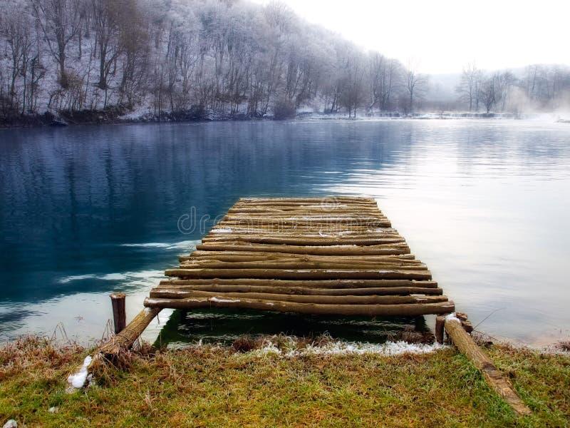 De pijler van de rivier stock fotografie