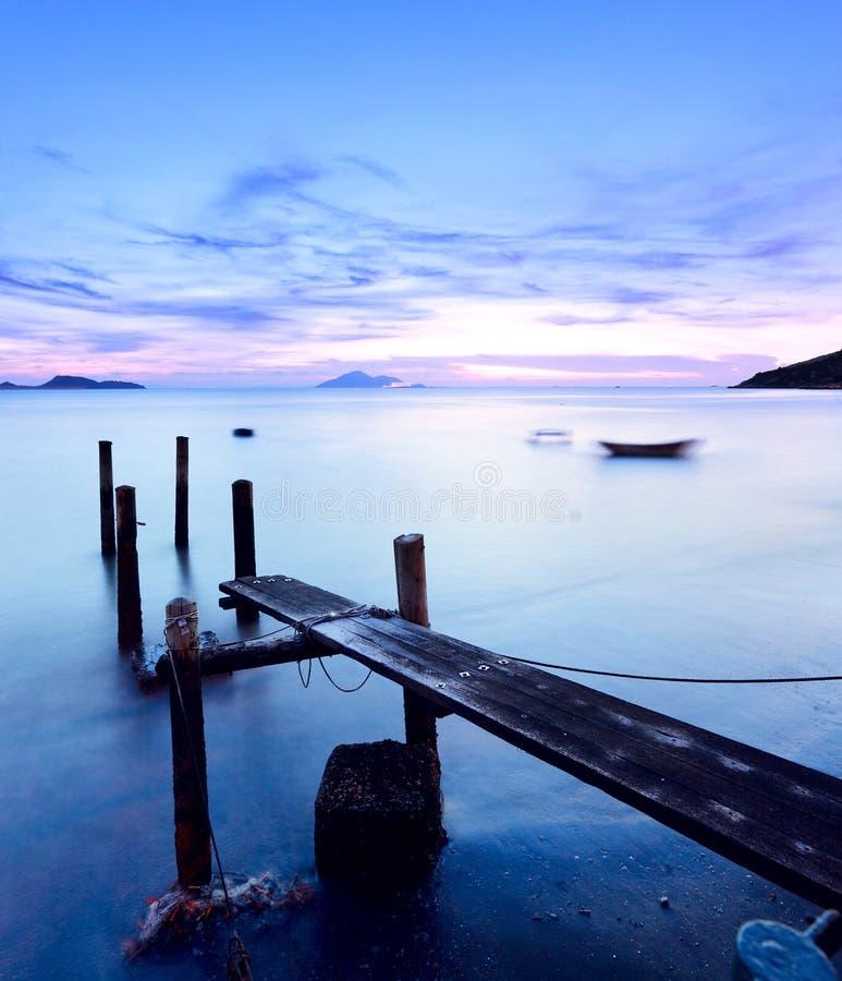 De pijler van de zonsondergang stock fotografie