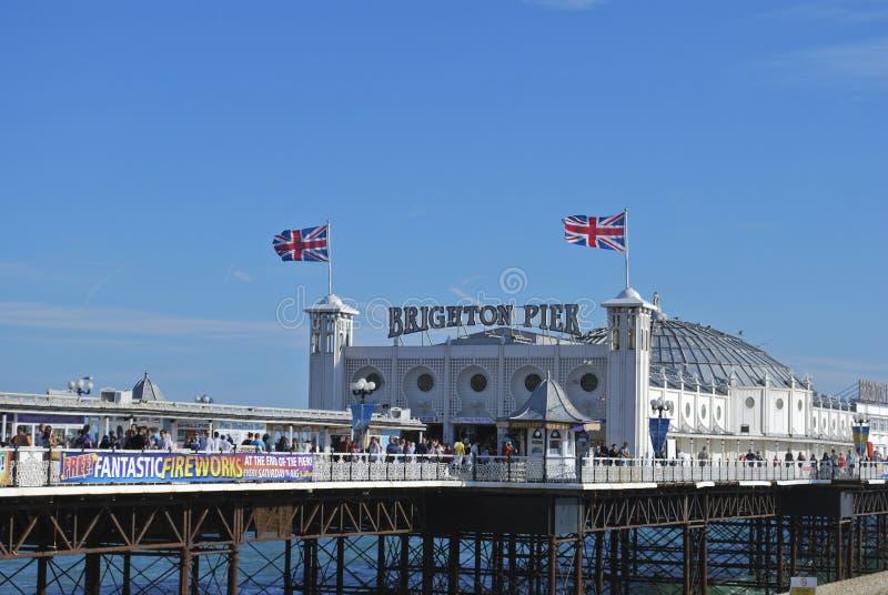 De Pijler van het Paleis van Brighton, Engeland stock afbeeldingen