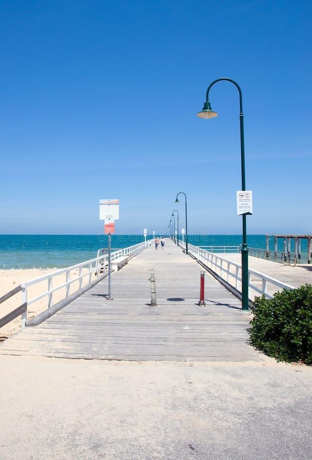 De pijler van het strand stock foto's