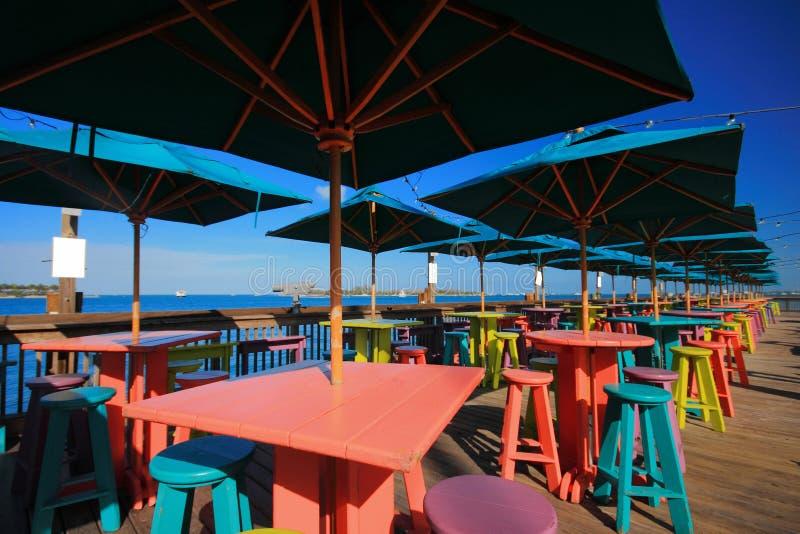 De pijler van Key West stock foto's