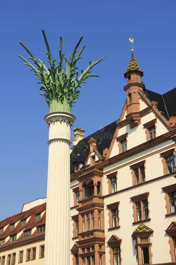 De pijler van Nikolai, Leipzig, Duitsland royalty-vrije stock afbeeldingen