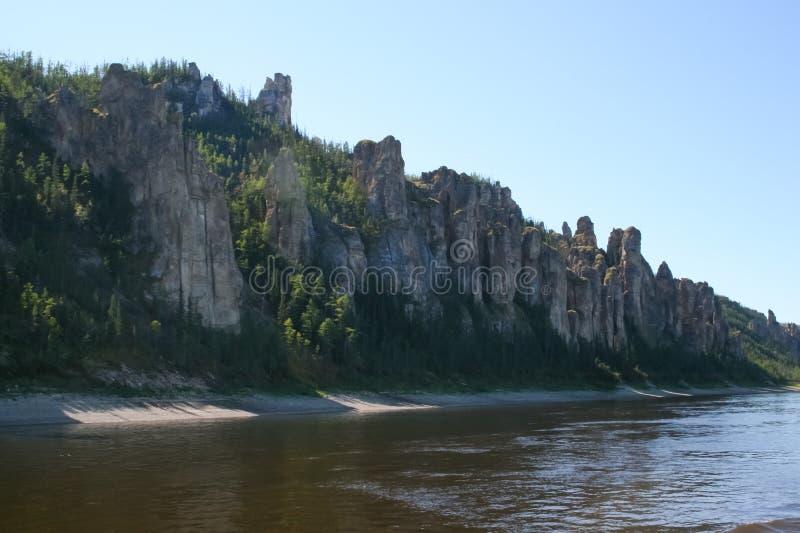 De pijlers van Lena, Aard van Oostelijk Siberië stock fotografie