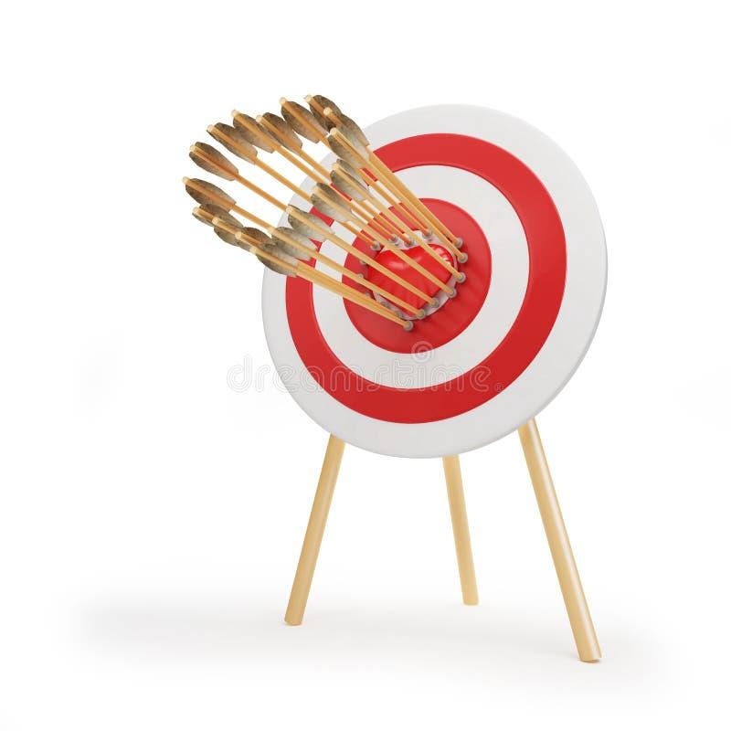 De pijlhart van het doel stock illustratie