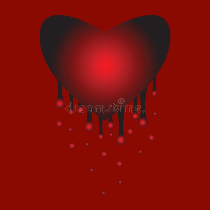 De pijn van het hart royalty-vrije illustratie
