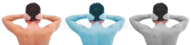 De pijncollage van het oor stock foto