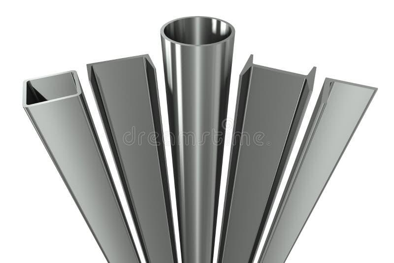 De pijp van het metaal, balken, hoeken, kanalen en vierkant t royalty-vrije illustratie