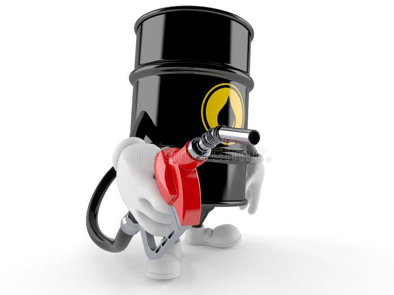De pijp van de de holdingsbenzine van het olievatkarakter vector illustratie